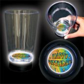 Birthday Stars Logo LED Bottom Lit Cup - 16 Ounce
