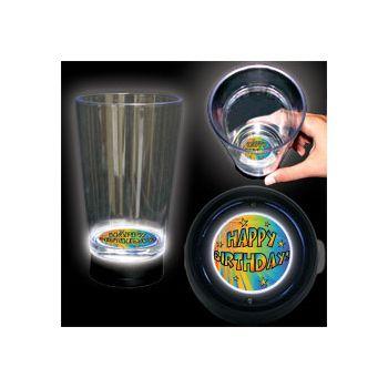 Birthday Stars Logo LED Bottom Lit Cup - 16 Ounce