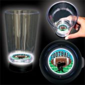 Football Play Logo LED Bottom Lit Cup - 16 Ounce