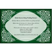 Green Kaleidoscope  Personalized Invitations