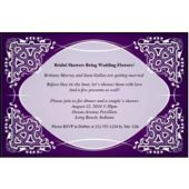 Purple Kaleidoscope Personalized Invitations