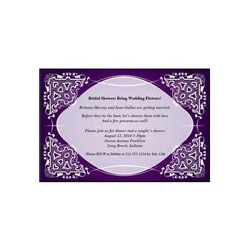 Purple Kaleidscope Personalized Invitations