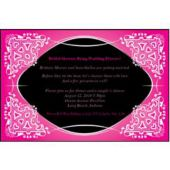 Pink on Black Kaleidoscope Personalized Invitations