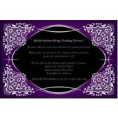 Purple on Black Kaleidoscope Personalized Invitations