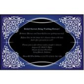 Blue on Black Kaleidoscope Personalized Invitations