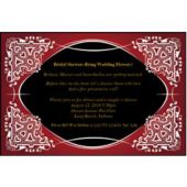 Red On Black Kaleidoscope  Personalized Invitations