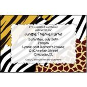 Wild Animal Print Personalized Invitations