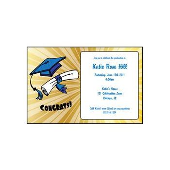 Golden Graduation Personalized Invitations