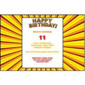 Birthday Burst Personalized Invitations