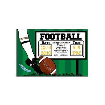 Football Kick Off Personalized Invitations