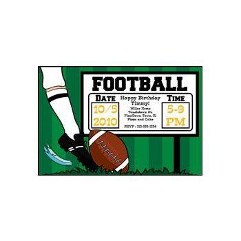 Football Kick Off Personalized Invitations