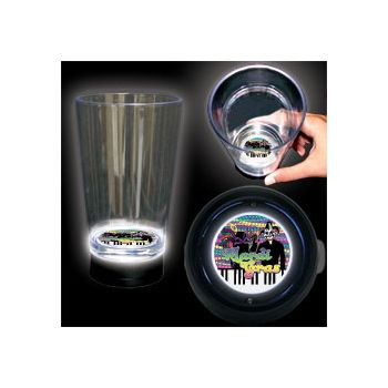 Mardi Gras Logo LED Bottom Lit Cup - 16 Ounce