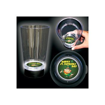St. Patrick's Day Logo LED Bottom Lit Cup - 16 Ounce