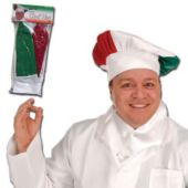 Red, White & Green Chef's Hat