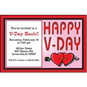 V-Day Party Personalized Invitations