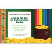 St. Patrick's Day Rainbow Personalized Invitations