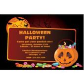 Halloween Candy Personalized Invitations