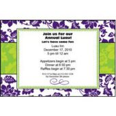 Purple Floral Personalized Invitations
