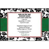 Black Floral Personalized Invitataions