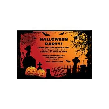 Halloween Graveyard Personalized Invitations