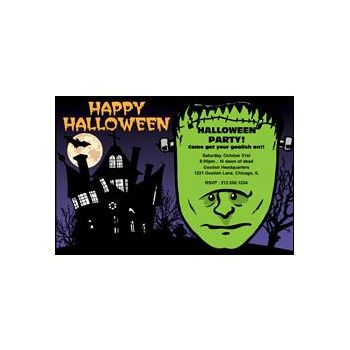 Frankin the Monster Personalized Invitations