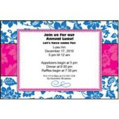 Blue Floral Personalized Invitations