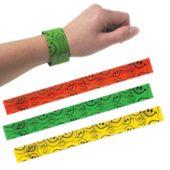 Neon Smile Slap Bracelet