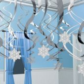 Snowflake Swirl Decorations-30 Pack