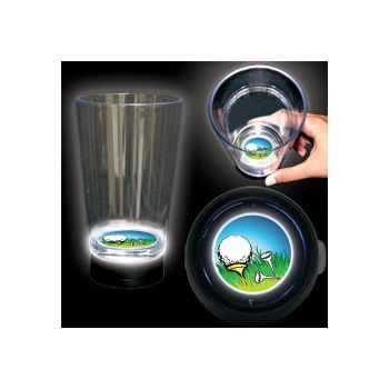 Golf Ball Logo LED Bottom Lit Cup - 16 Ounce