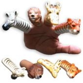 Wild Animal Finger Puppets - 12 Pack