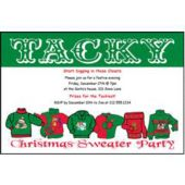Christmas Sweater Party Personalized Invitations