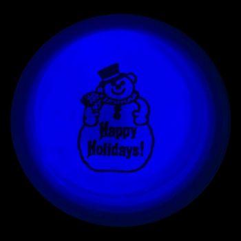 SNOWMAN GLOW BLUE CIRCLE