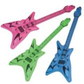 "Neon V Shape Inflatable 42"" Guitars - 12 Pack"