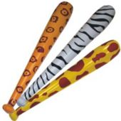 "Inflatable 46"" Animal Print Bats - 12 Pack"
