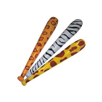 Inflatable Animal Print Bats - 46 Inch, 12 Pack