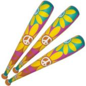 """Retro 60's Inflatable Bats - 46"""", 12 Pack"""