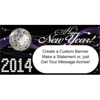 NEW YEAR'S NIGHT 2014 CUSTOM BANNER (Variety of Sizes)
