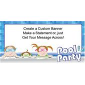 Pool Party People Custom Banner