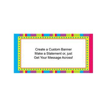 Colorful Stripes Custom Banner (Variety of Sizes)