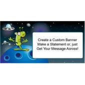 Space Alien Custom Banner (Variety of Sizes)