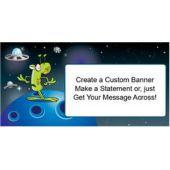 Space Alien Custom Banner (Variety of Sizes)