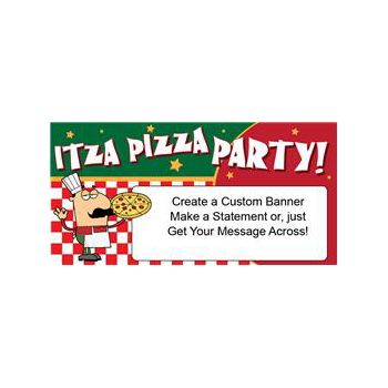 Itza Pizza Party Custom Banner (Variety of Sizes)