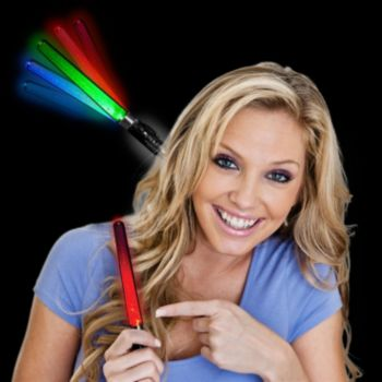 Multi-Color LED Lightstick - 7 Inch, 12 Pack