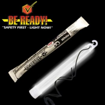 30 Minute White Glow Stick - 6 Inch, Retail Pack