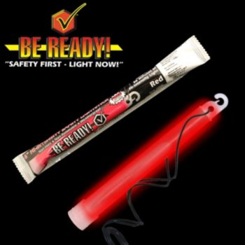 30 Minute Red Glow Stick - 6 Inch, Retail Pack