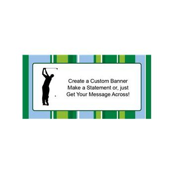 Golf with Stripes Custom Banner