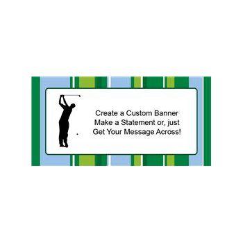 Golf with Stripes Custom Banner