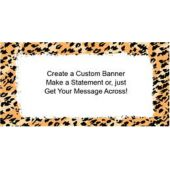 Cheetah Print Custom Banner