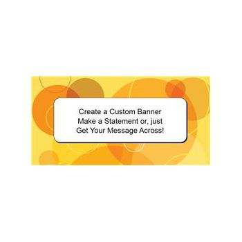 Modern Yellow Circles Custom Banner (Variety of Sizes)