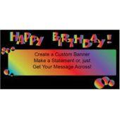 Birthday Rainbow Custom Banner